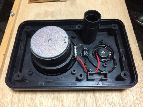 ビクター PS-S10Bを分解、バッフルの画像