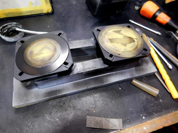 FOSTEXのツイーターFT1RPの塗装剥がれ修復その2