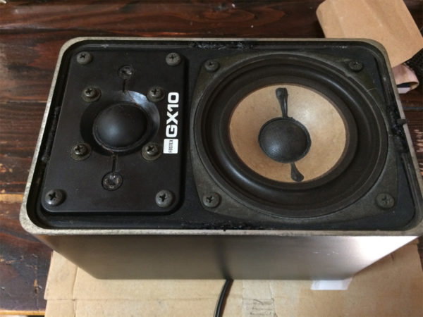 フォステックス・GX10の画像、グリルを外した状態