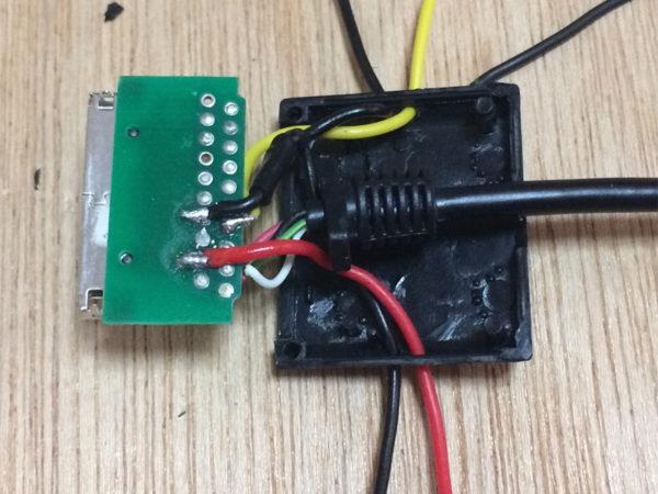 タスカムiM2の画像、USBアダプタ作成のコネクタ画像その2
