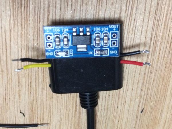 タスカムiM2の画像、USBアダプタ作成のコネクタ画像その1