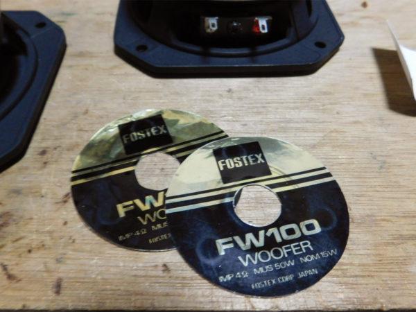 FOSTEX FW100のレストア、リコーン作業の画像その11:保管ラベル