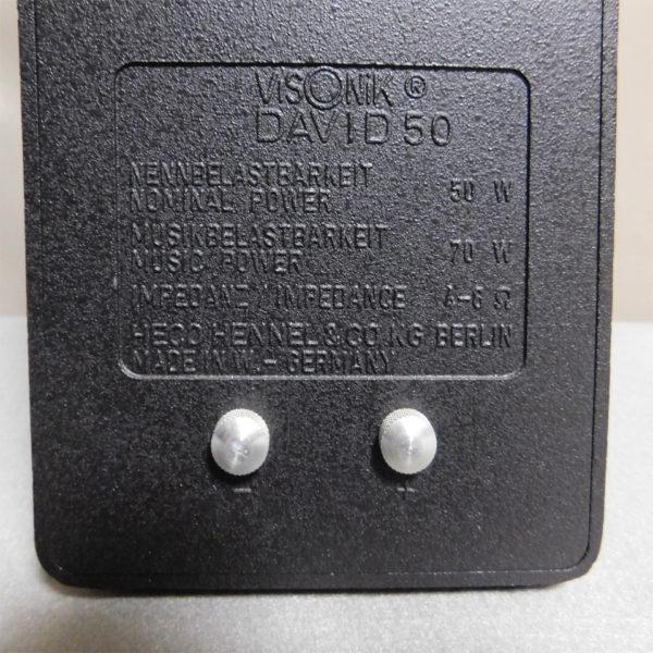 VISONIK DAVID 50の背面バックプレート