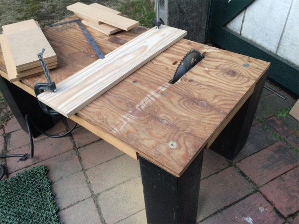 丸ノコを使った自作テーブルソー