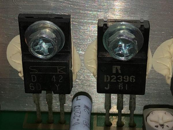 KENWOOD M-AX-D7-N、パワートランジスタ