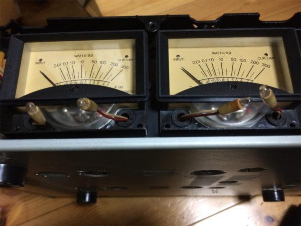 YAMAHA HC-1500パワーアンプのパワーメーター