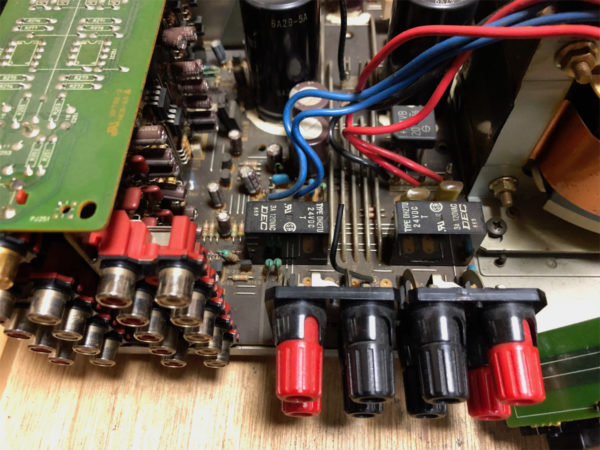 YAMAHA AX-10、DEC製スピーカーリレーDH2TU 24VDC