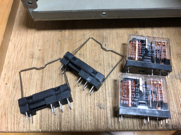 YAMAHA AX-10、スピーカーリレー・オムロンG2R-2-24VDC