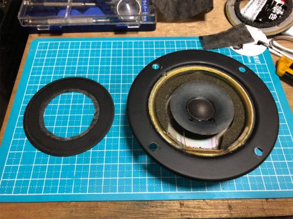 OTTO SX-5M、コーンツイーター分解/エッジ張り替え