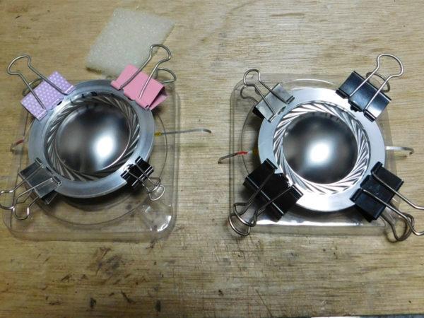 Rotel Domus 250、ダイアフラムにアルミリング装着