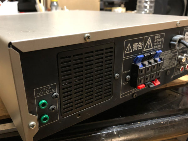 KENWOOD M-AX-D7-N、背面バックパネル画像
