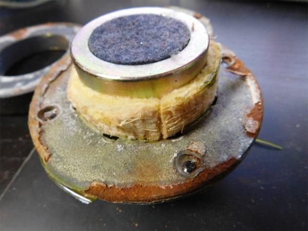 パイオニア CS-610、ハードドームスコーカーの錆の状態・その1