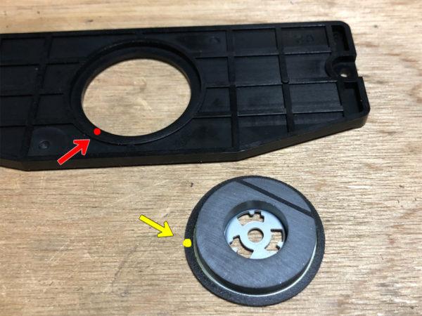 YAMAHA CDX-10のCDドライブのブリッジのラバー部品固着