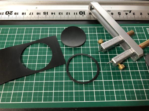 YAMAHA CDX-10のCDドライブのブリッジのラバー部品作成