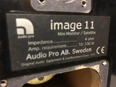 Audio Pro Image11、ラベル