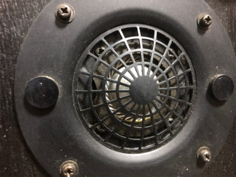 Technics SB-100、アルミ・ハードドームツイーター・正面から