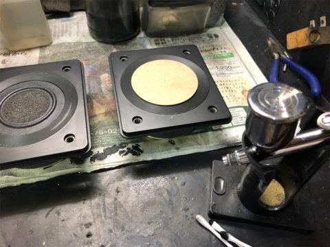 TRIO/トリオ LS-10のツイーター、塗装中