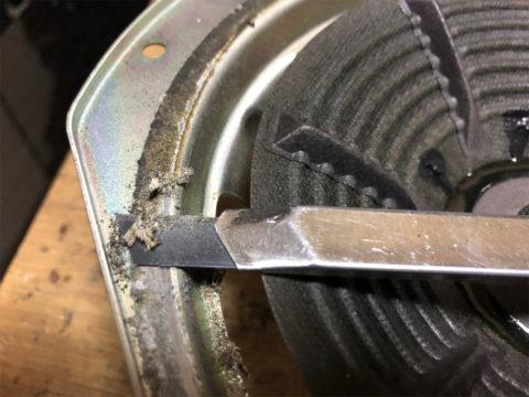 TRIO/トリオ LS-10の自作エッジ制作・古いエッジの取り除き4