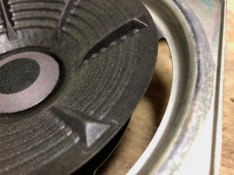 TRIO/トリオ LS-10の自作エッジ制作・古いエッジの取り除き6