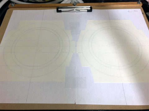 TRIO/トリオ LS-10の自作エッジ制作・自作エッジのための台紙をスタンバイ