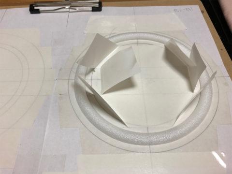 TRIO/トリオ LS-10の自作エッジ制作・自作エッジ、バックアップ材の貼り付け