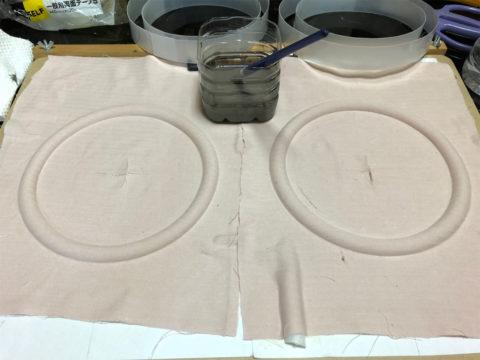 TRIO/トリオ LS-10の自作エッジ制作・自作エッジ、液ゴムの塗り始め
