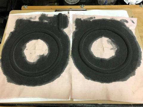 TRIO/トリオ LS-10の自作エッジ制作・自作エッジ、液ゴムの乾燥完了