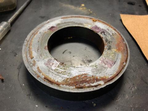 TRIO/トリオ LS-77、マグネットの錆汚れ