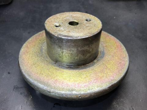 TRIO/トリオ LS-77、ヨーク&バックプレートの錆汚れ除去
