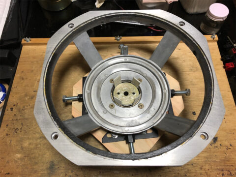 TRIO/トリオ LS-77、磁気ユニット部の組み立て完了