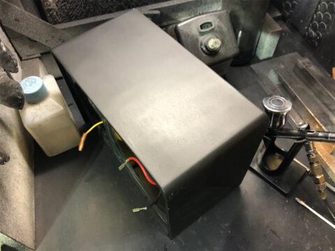 Aurex/オーレックス・SS-S12Wのエンクロージャーの塗装
