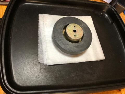 TRIO/トリオ LS-77、マグネットとバックプレートを加熱で分離