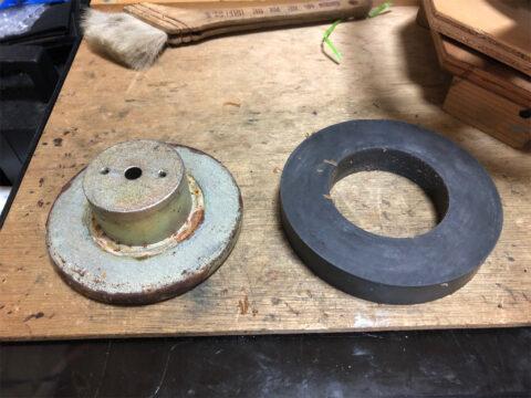 TRIO/トリオ LS-77、マグネットとバックプレートを加熱で分離2