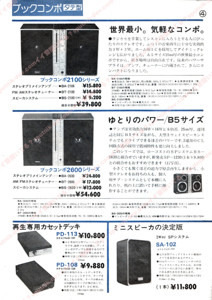 KENY・SOUND SHACK/ケニー・サウンドシャックカタログ・4ページ目