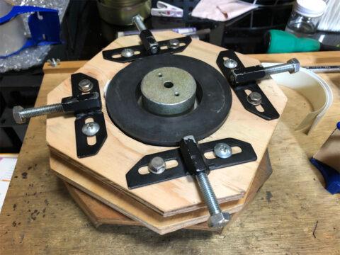 TRIO/トリオ LS-77、磁気ユニット部の組み立て、センターリング