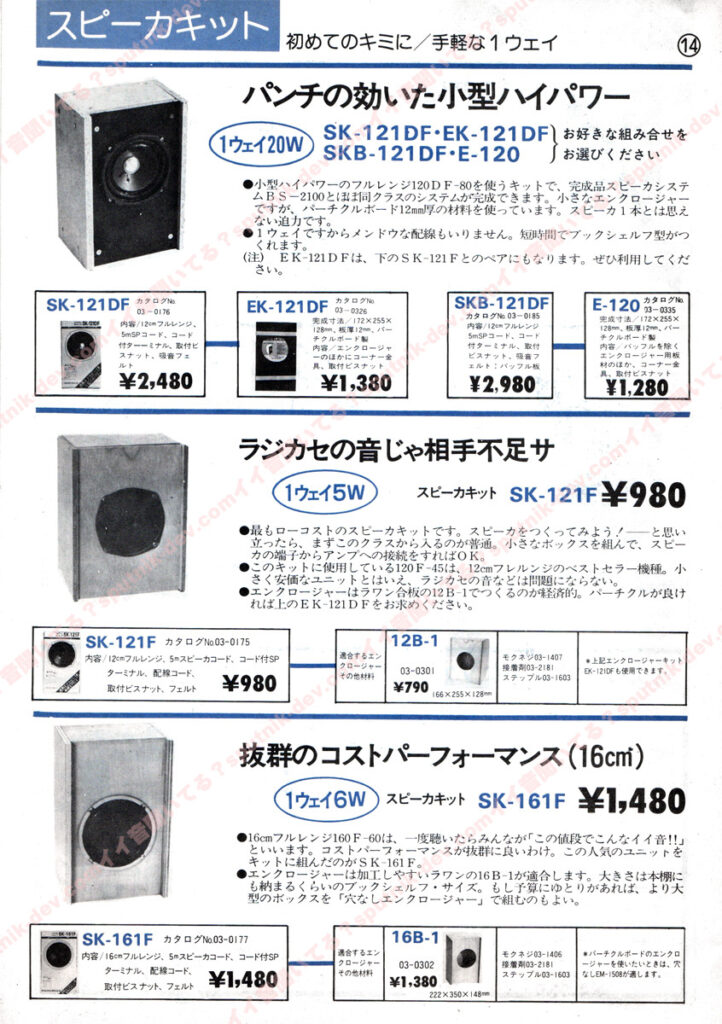 KENY・SOUND SHACK/ケニー・サウンドシャックカタログ・14ページ目