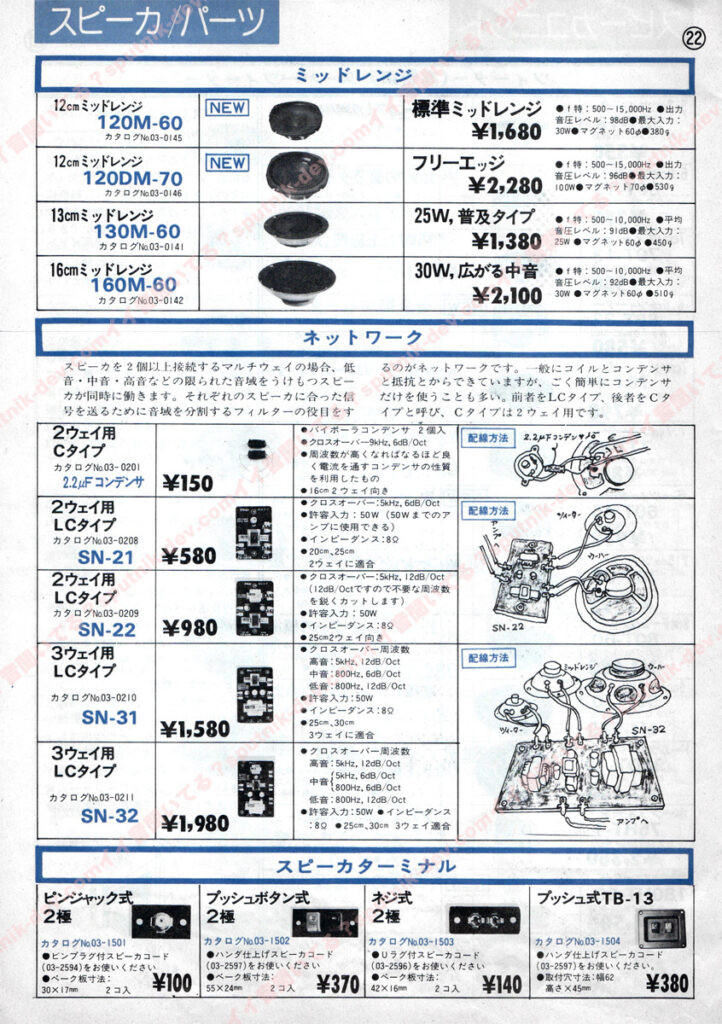 KENY・SOUND SHACK/ケニー・サウンドシャックカタログ・22ページ目