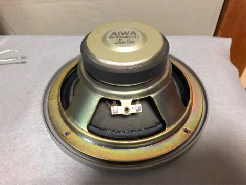 AIWA/アイワ・SC-E80、ウーファーのエッジの貼り付けその4